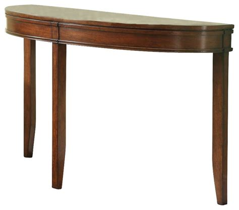 Half Moon Sofa Table homelegance parrish half moon sofa table in cherry