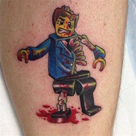 tattoo machine zombie 20 incredibly cool lego tattoos smosh