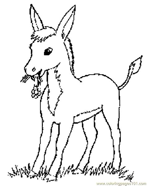 free coloring page donkey donkey coloring pages for kids coloring home