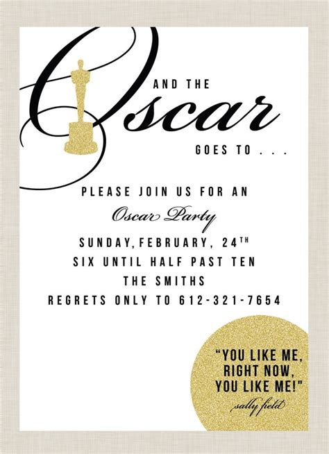 oscar invitation template oscar invitations paper goods inspiration