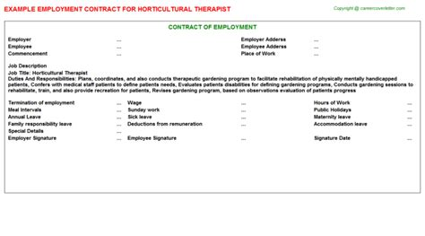 Horticultural Therapist Cover Letter by Resume Electricians Helper