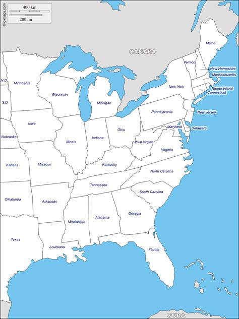 map of the east coast of the usa map usa east coast states arabcooking me