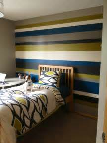 Bedroom Paint Ideas With Stripes Bedroom Stripe Wall Paint Design And Wood Headboard For