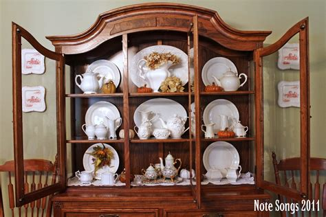 China Cabinet Decor by Note Songs Fallen Whiteness In The Hutch