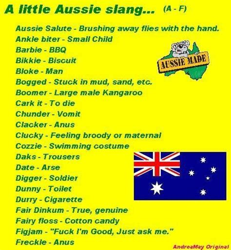 a dictionary of slang t english slang and 7 best aussie slang images on pinterest
