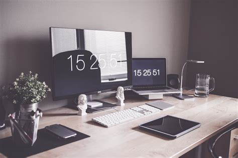 minimalist office desk diy minimalist home office workspace desk setup free stock