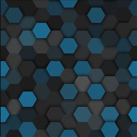 hexagon pattern name hexagon layered seamless pattern vector material 05