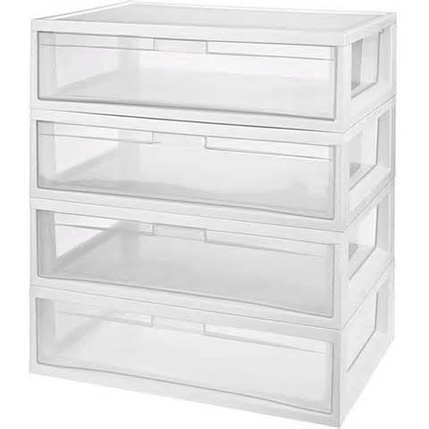 sterilite large modular storage drawers set of 4 55 88