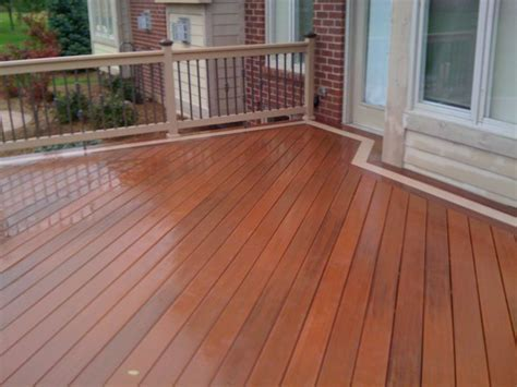 toned deck staining     composite