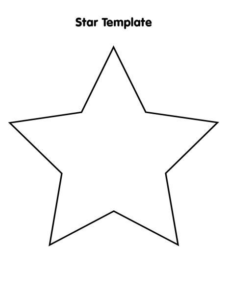 star template printable calendar template