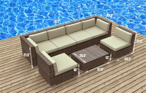 patio furniture sofa urban furnishing modern outdoor backyard wicker rattan
