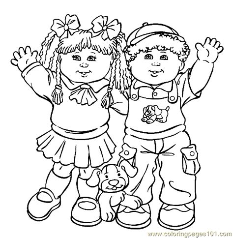 Cabbage Patch Coloring Pages Cabbage Patch Kids Coloring Page 11 Coloring Page Free