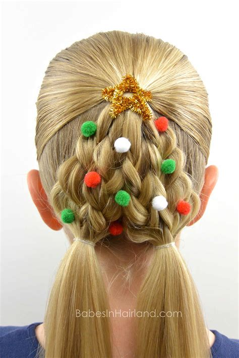 christmas tree hairstyle braided tree hairstyle in hairland
