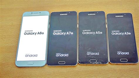 Samsung A3 A5 A7 A8 Samsung Galaxy A8 Vs A7 Vs A5 Vs A3 2016 Speed Test