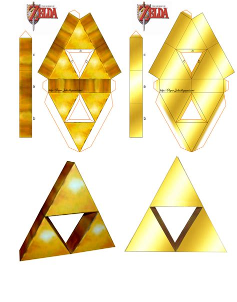 Triforce Papercraft - papercraft item triforce by thebutcher59 on deviantart