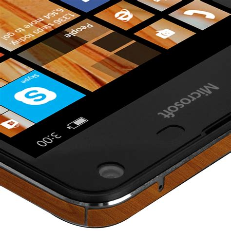 skinomi techskin microsoft lumia 650 light wood skin