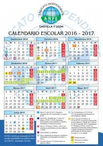 Calendario 2017 Vacaciones Vacaciones De Navidad Semana Santa Y Verano Curso