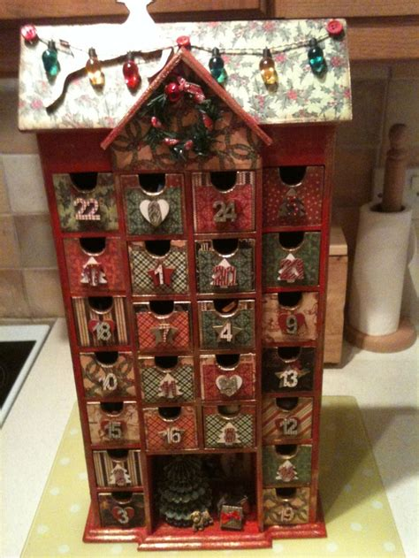 homemade advent calendar mdf calendar covered
