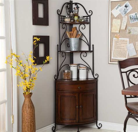 corner bakers rack with wine rack inspiring corner wine rack design ideas that perfect for