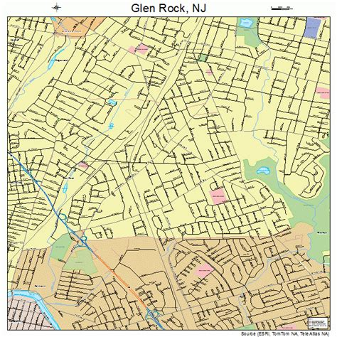 glen rock new jersey map 3426640
