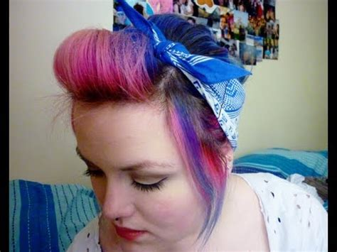oily hair hairstyles youtube quick bandana hairstyle for greasy hair youtube