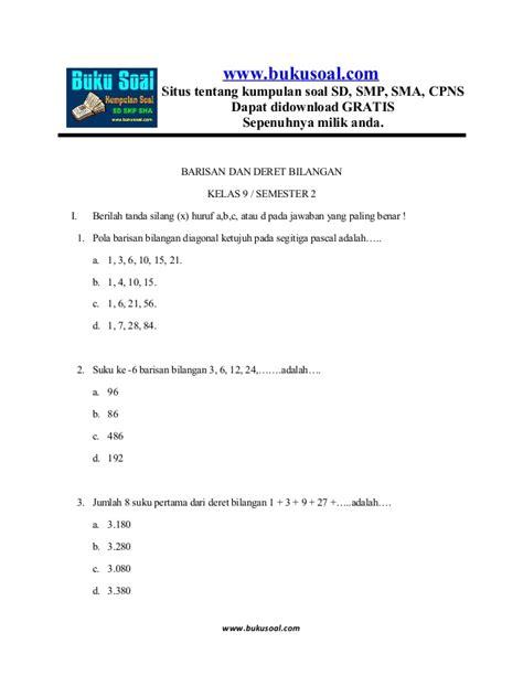 Matematika Ekonomi Dilengkapi Contoh Contoh Soal Dan Latihan 6 latihan soal matematika barisan dan deret bilangan