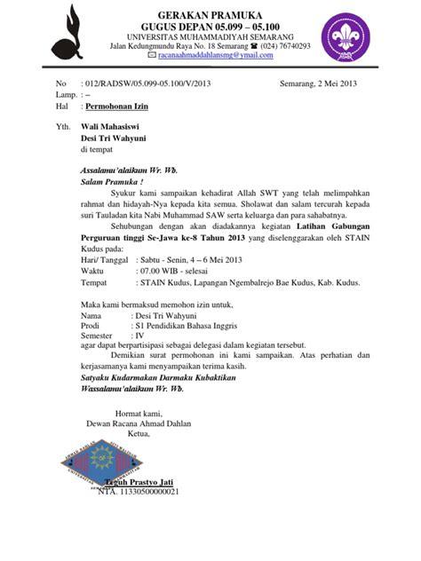 Contoh Surat Dispensasi Paskibra Wwwmadreviewnet