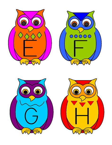 printable alphabet owl making learning fun owl abc matching