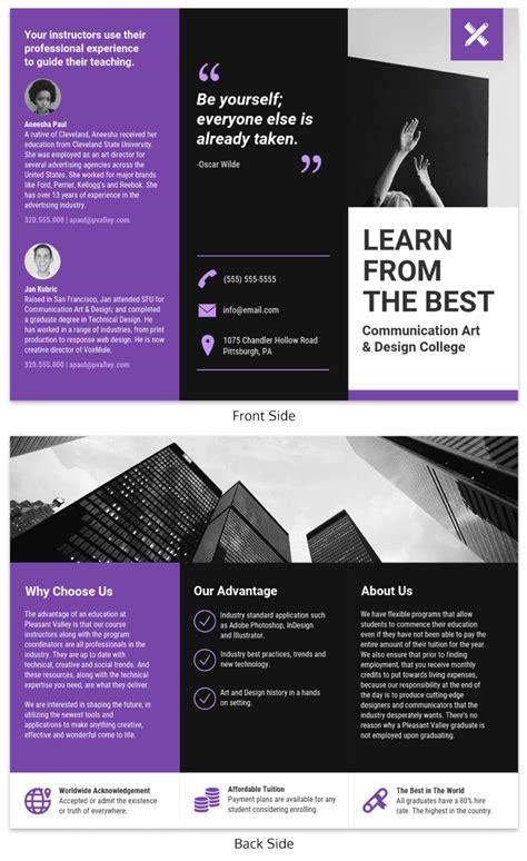 free tri fold brochure design templates best of brochures design