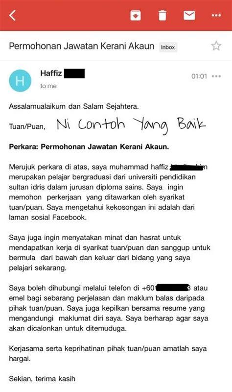 cover letter contohnya tips ringkas untuk memohon kerja melalui email dengan betul
