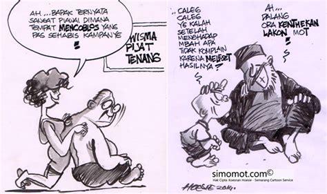 karikatur kanye pilpres dan caleg kartun si momot si momot