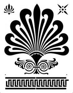 greek motif greek fan motif silhouettes stencils templates