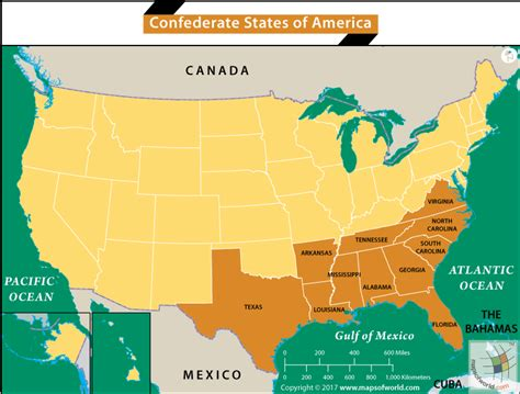 map of the united states union and confederate what was the confederate states of america answers