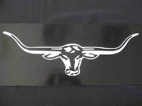 Longhorn Stickers large longhorn sticker decal white 570mm ebay