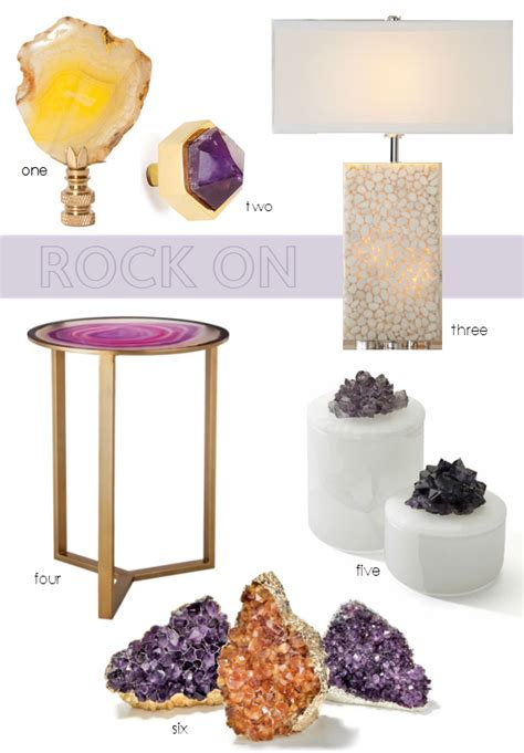 gemstone home decor agate and home decor trend simplified bee