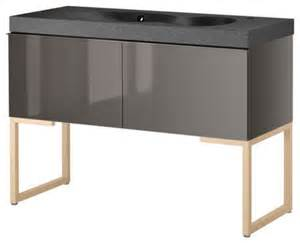 Ikea Vanity Unit Uk High Gloss Grey Wall Hung Designer Bathroom Sink