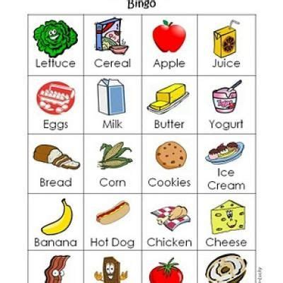 Gift Card Food - shop with me bingo printable bingo cards for kids kids could even make their own