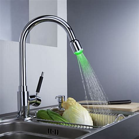 led painting finish brass kitchen faucet with color solid brass chrome finish kitchen faucet with color
