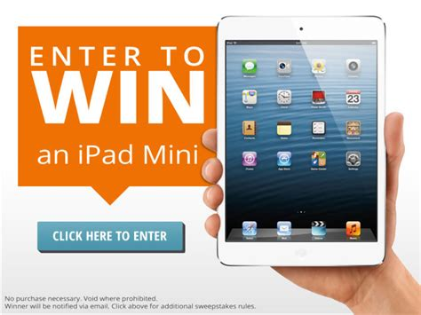 Sweepstakes To Enter - new facebook sweepstakes enter to win an ipad mini 380 harding