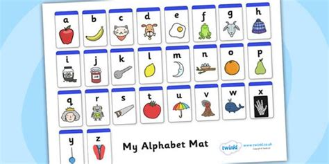 printable alphabet mat twinkl resources gt gt a z alphabet mat phase 1