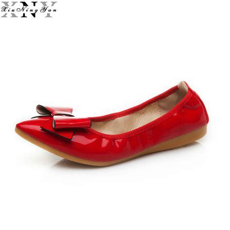 flat foldable shoes 2017 fashion brand ballerina shoes genuine leather