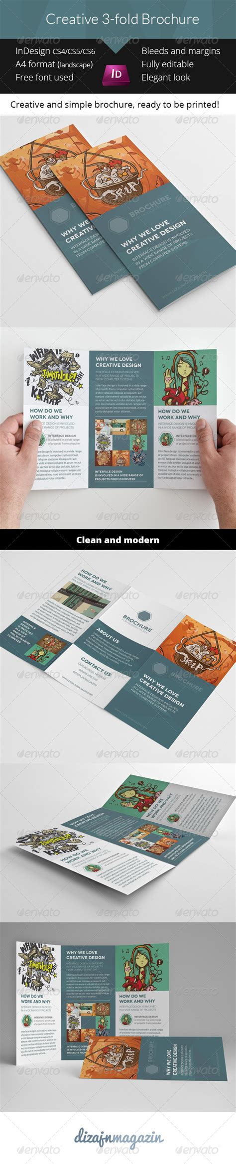 print template graphicriver creative 3 fold brochure