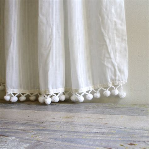 pom poms for curtains vintage pom pom curtain by ethanollie on etsy