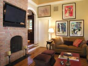 How To Decorate Living Room With Tv Fireplace Living Room Living Room With Tv Above Fireplace