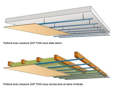 Ossature Placo Plafond by Choisir Le Type De Faux Plafond 224 Installer Placo 174