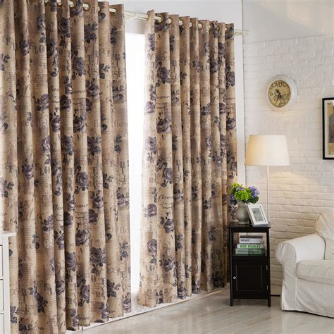 side curtains classic double side print floral curtain styles