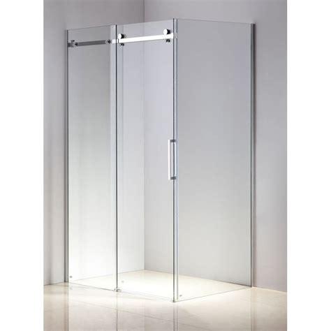 Sliding Bath Shower Screens frameless glass slide shower door screen 1200x900mm buy