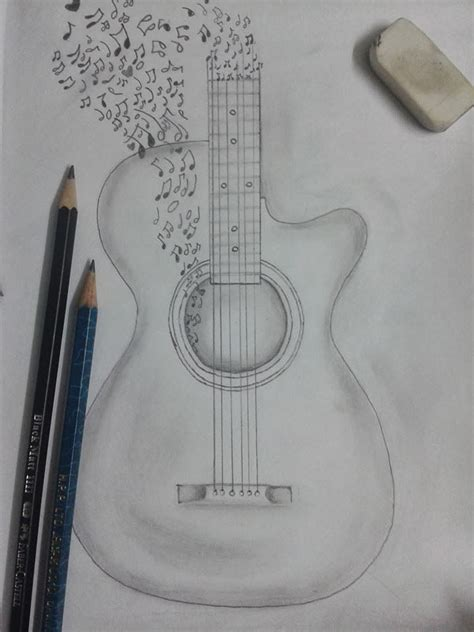 I Pencil Sketches by Best 20 Guitar Drawing Ideas On