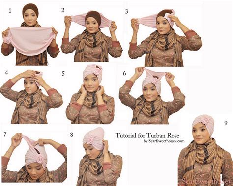 tutorial membuat turban aneka tutorial hijab di bulan ramadhan yang membuat wajah