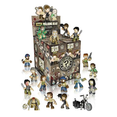 Lego Mini Figure Walking Dead 3 walking dead mystery minis series 3 mini figure display